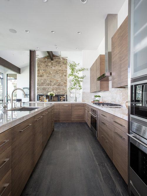 Kitchen Design Ideas Remodels Photos With Beige Backsplash
