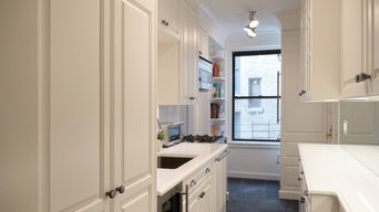 White Prewar Kitchen with Custom Cabinetry