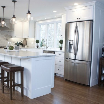 White Recessed Panel Cabinetry