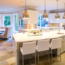 Transitional Kitchen by Andrea Rodman Interiors