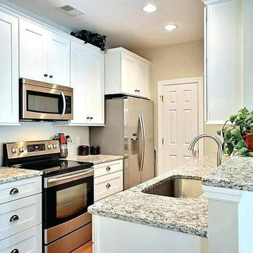 White Shaker Cabinets in Small Kitchens