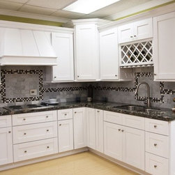White Shaker Kitchen Cabinets Home Design - We ship out hundreds of White Shaker Kitchen each month from our fully stocked warehouses across the US. You can receive your new cabinets in just 7-14 business days!