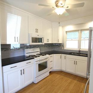 White Thermofoil Cabinets with Black Pearl Granite Countertops ~ Brunswick, OH