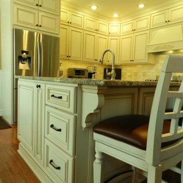 White, Traditional Kitchen