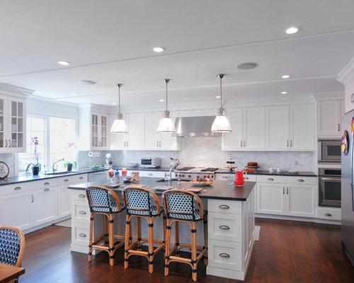 Transitional White Kitchen white transitional kitchen | houzz