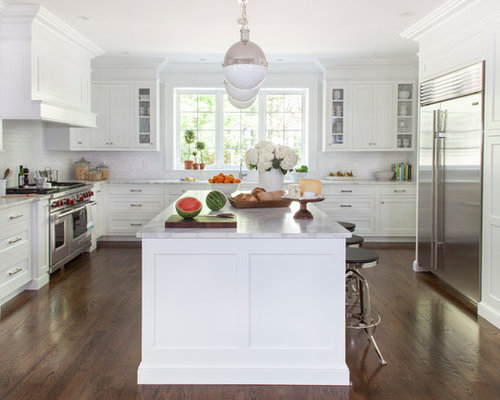 White Transitional Kitchen Design Ideas Amp Remodel Pictures