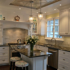 traditional kitchen White Victorian Kitchen