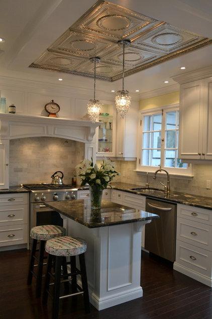Traditional Kitchen White Victorian Kitchen