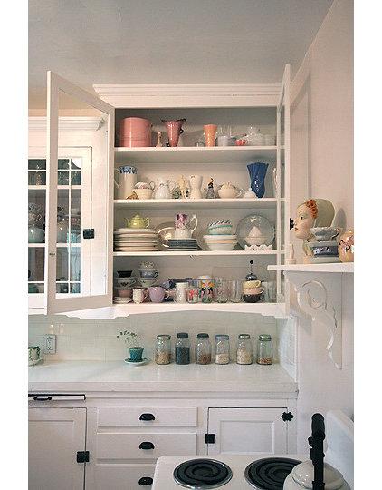 Traditional Kitchen White Vintage Kitchen
