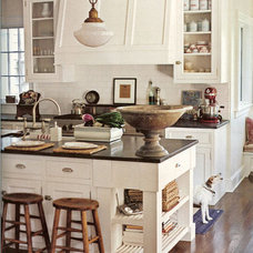 Traditional Kitchen White  w/Black