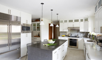 White Waterfall Kitchen