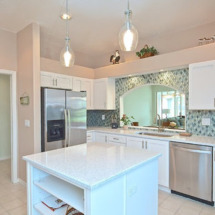 White With a Pop of Color Kitchen // Sarasota