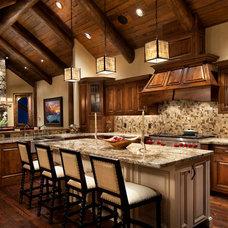 Rustic Kitchen by Hunter and Company Interior Design