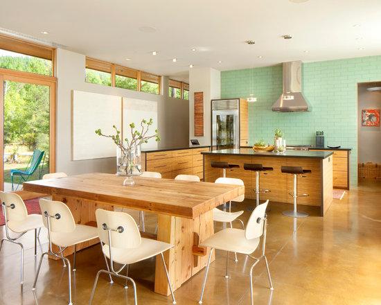 Pale Orange Kitchen pale light green ceramic tile | houzz