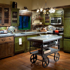 Rustic Kitchen by Locati Architects