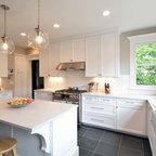 Grey And White Kitchen Traditional Kitchen Dallas