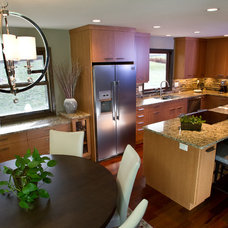Transitional Kitchen by DC Interiors & Renovations