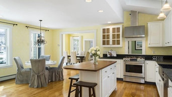 Whole house staging in Concord-  kitchen, family room, living room shown