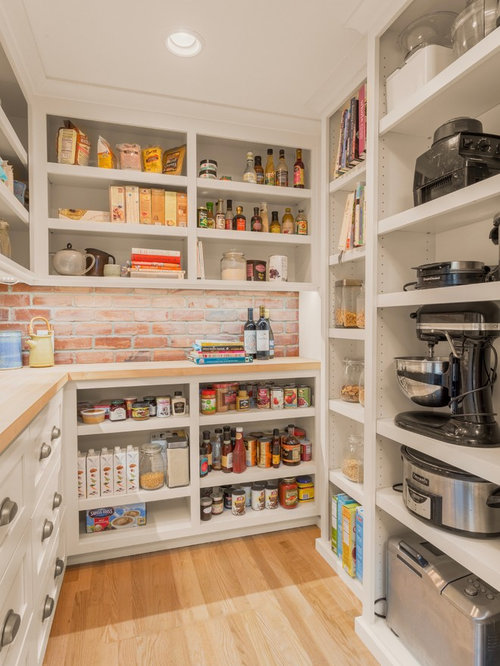 shelf designs for home. Transitional kitchen pantry ideas  u shaped light wood floor and beige Best 30 Kitchen Pantry Ideas Designs Houzz