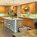 Quarter Sawn White Oak From Plain Fancy Custom Cabinetry Modern Kitchen Orlando By
