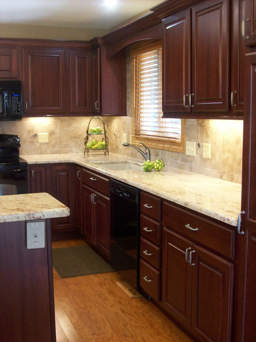 Dark Cherry Cabinets Ideas, Pictures, Remodel and Decor