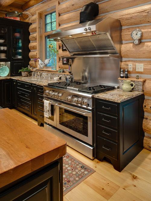 Ideas para cocinas | Fotos de cocinas comedor rústicas con puertas ...