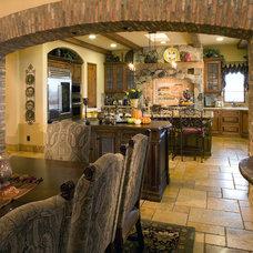 Mediterranean Kitchen by Pacific Cornerstone Architects, Inc