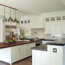 Transitional Kitchen by Brooke Wagner Design