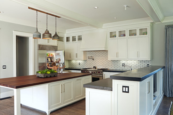 Transitional Kitchen by Brooke Wagner Design