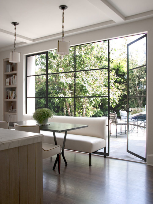 Patio door window treatments houzz inspiration for a transitional eat in kitchen remodel in los angeles planetlyrics Images