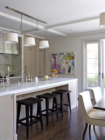 Transitional Kitchen by Studio William Hefner