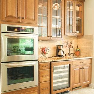 Williamsburg Cherry Kitchen with Black island
