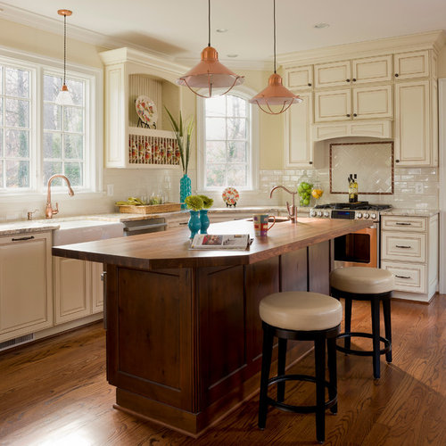 Kitchen Island Table Houzz: Wood Island Countertop Home Design Ideas, Pictures, Remodel And Decor