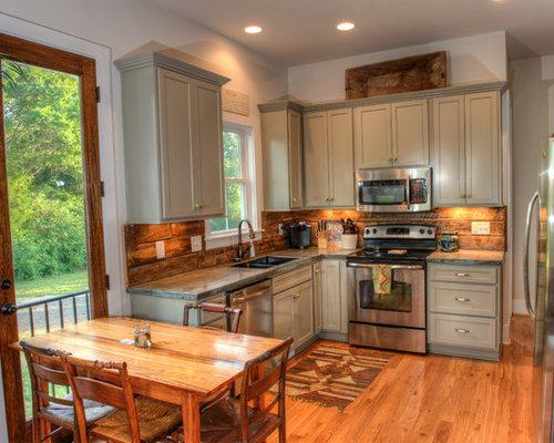 barnwood backsplash home design photos