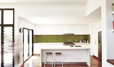 Welcome Back the Tiled Kitchen Backsplash