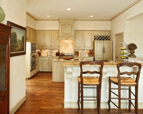 White Kitchen Cabinet Wood Floor Ideas Photos Houzz