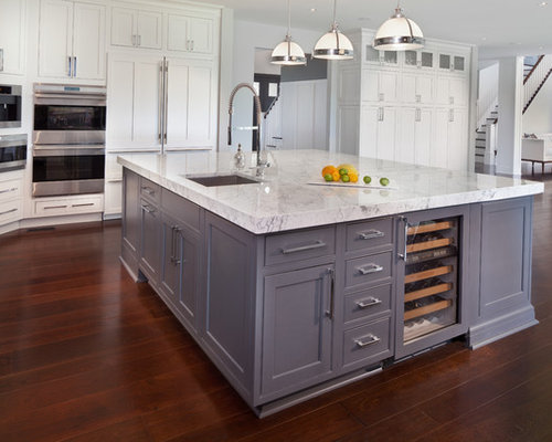 Example Of A Transitional U Shaped Eat In Kitchen Design In DC Metro With Part 63