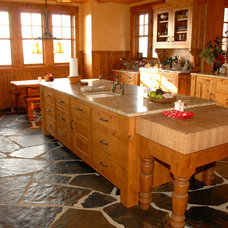 Rustic Kitchen Cabinets by Carey's Custom Woodworking, Inc