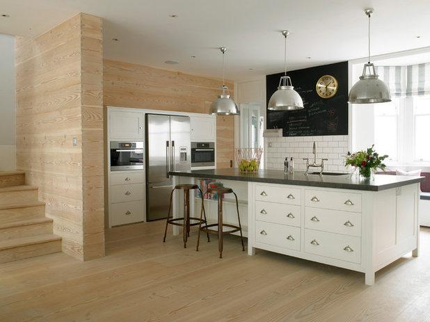 Transitional Kitchen by LEIVARS