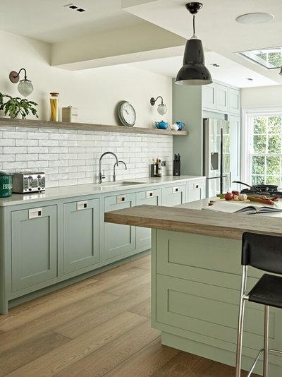 Transitional Kitchen by Brayer Design