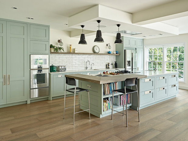 Transitional Kitchen by Brayer Design