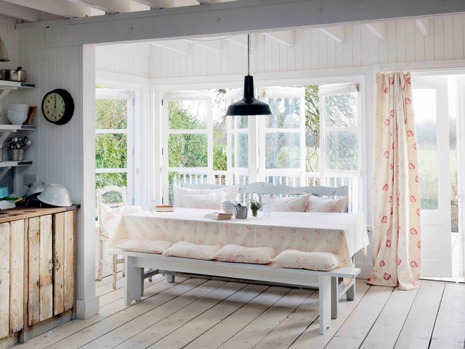 Beach Style Kitchen by Cabbages & Roses Ltd