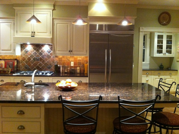 Transitional Kitchen by Cicely Hall Design