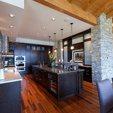 Rustic Kitchen by site lines architecture inc.