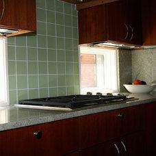 Traditional Kitchen windows under cabinets