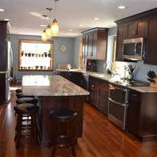 Transitional Kitchen by Granite State Cabinetry