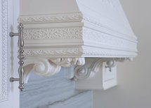 Where did you purchase the corbels and onlay used with this hood?