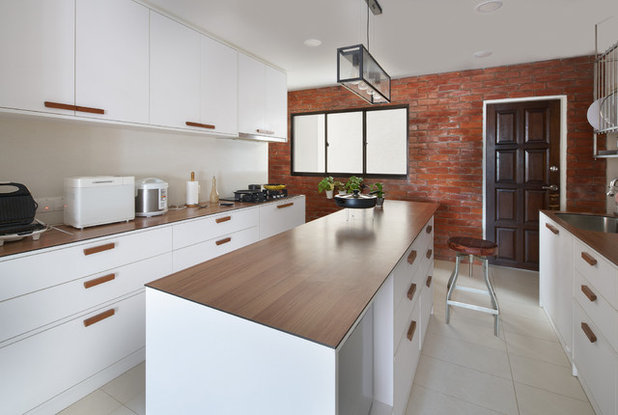 Transitional Kitchen by Provolk