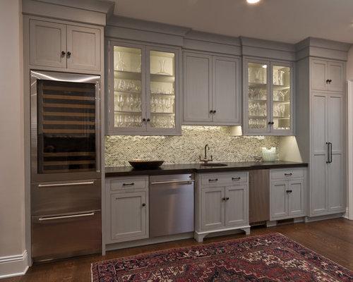 Kitchen wine bar and desk area - Bar area in kitchen ...