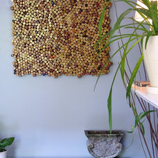 Eclectic Kitchen wine cork art